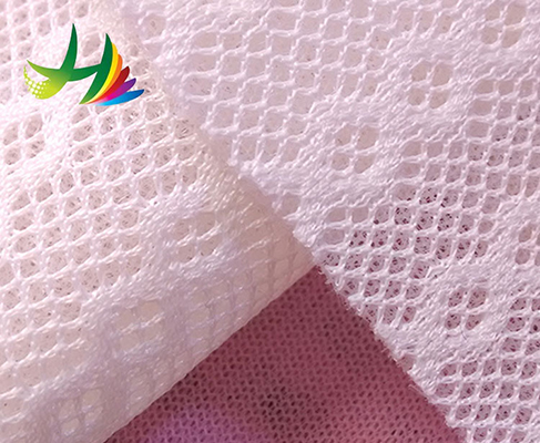 sportswear polyester comfortable respirable knitted mesh fabric