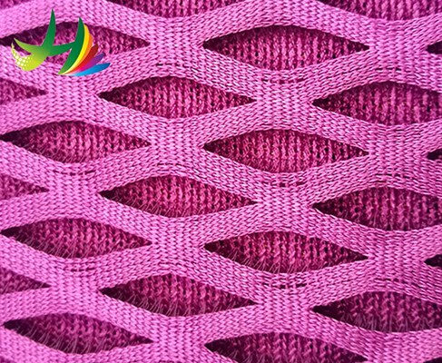 Factory direct big hole mesh fabric elastic 3d spacer air for sale