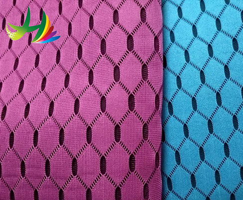 100 percent Polyester Double Color 3D Hexagon Air Mesh Fabric