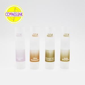 Oferta de tubo cosmético transparente.