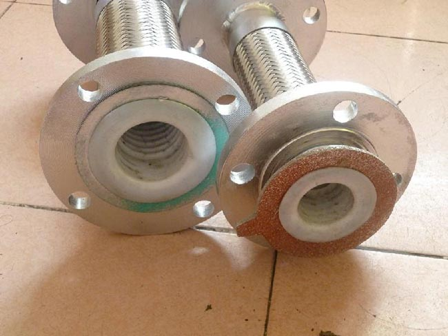 Steel lined PTFE metal hose