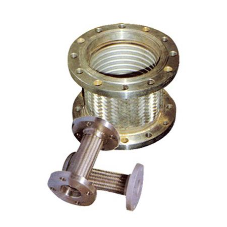 Flange connection metal hose