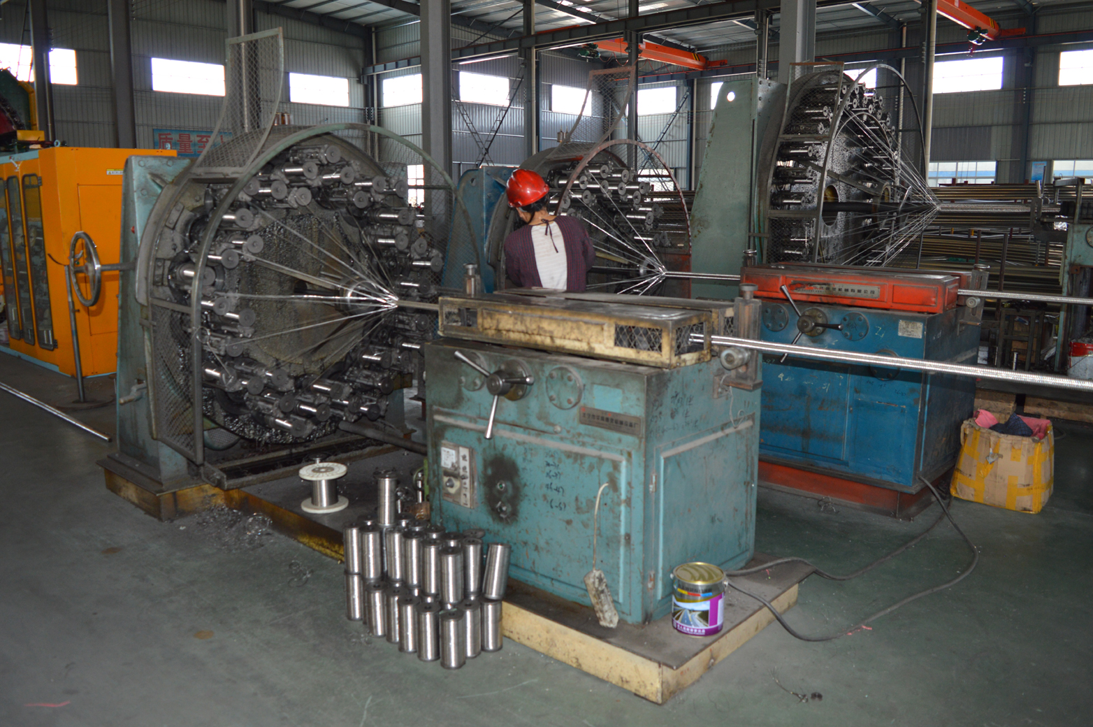 Corrugated pipe net cover production site
