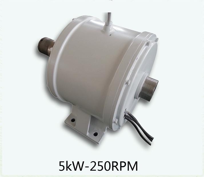 Générateur de vent à moteur à aimant permanent 5kW-250RPM