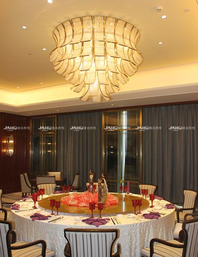 Ba Lan tấm đèn chùm tiệc hội trường ở Jingling Shihu Garden Hotel