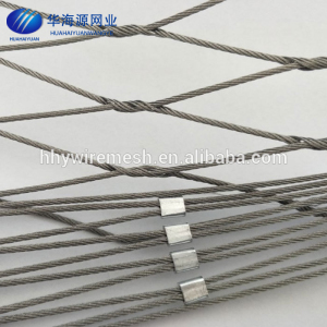 Zoo Mesh Stainless Steel 304 Wire Rope Mesh For Zoo Enclosure Rope Netting