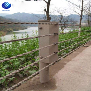 Stainless Steel Cable Guardrail Systems Railing Metal Posts Guardrail