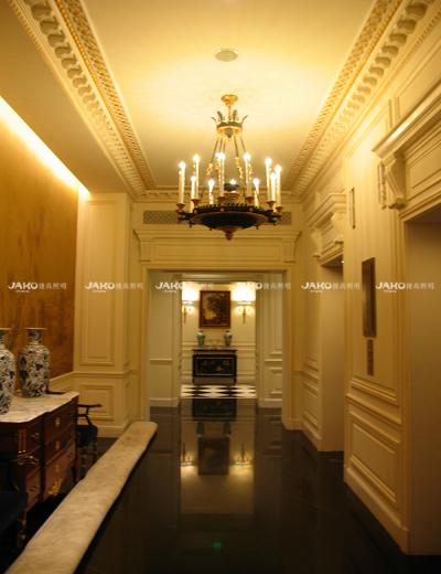 Hành lang tianjing Ritz-carlton Đèn chùm thiết kế châu Âu