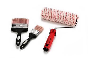 3PCS Paint Roller Set red
