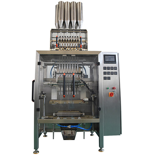 Multi-row particle pouch back sealing machine