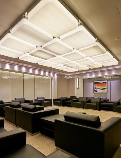 Phòng tiếp tân sảnh ánh sáng pha lê