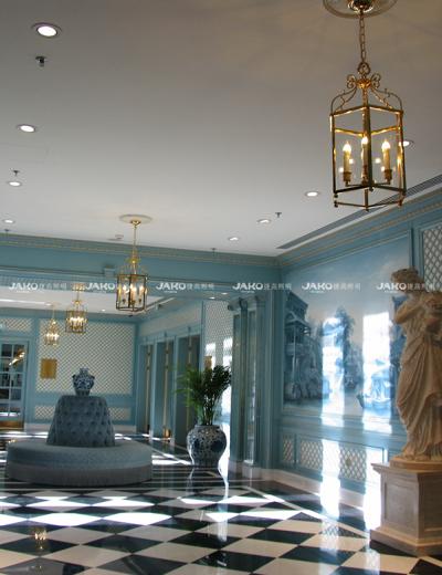 Thiết kế đèn chùm ở sảnh châu Âu của Ritz-carlton tianjing