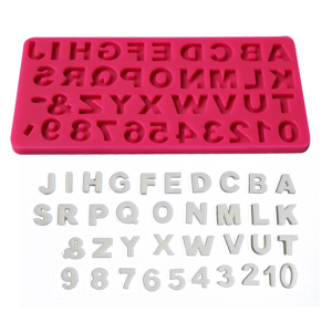 Letters and numbers silicone fondant mold