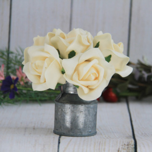 8Cm Artificial Decorative Wedding Peach Rose, 6Pcs/Bunch