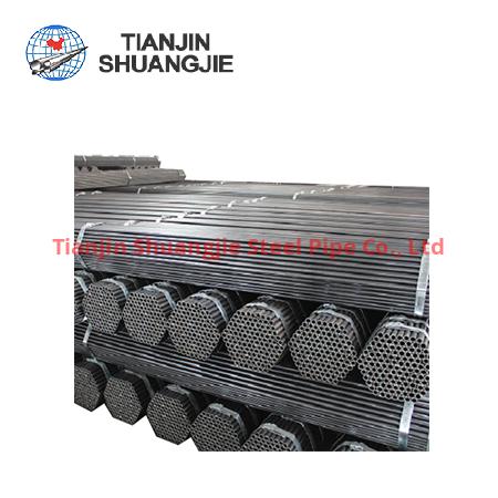 Tuyau d'acier au carbone BS EN39 ERW noir