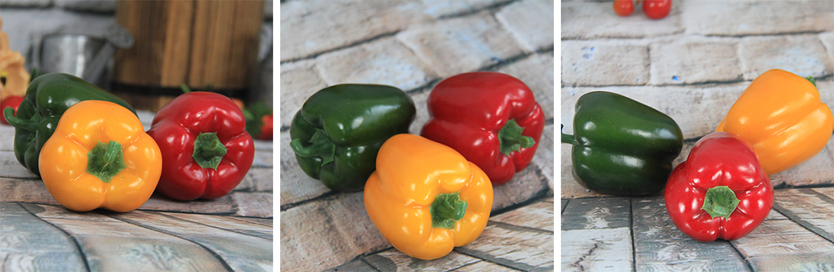 Artificial/Decorative Simulation Vegetable Red/Green/Yellow Pepper