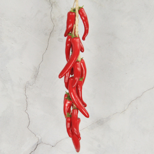 57Cm Artificial Simulation Decorative Fruits String Chilli Red