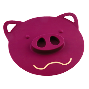 Pig-head silicone cover lid