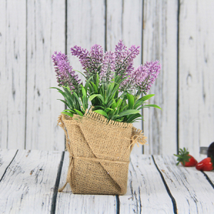 24X9Cm Artificial/Decorative Lavender Pot , Ramie Cover Pot