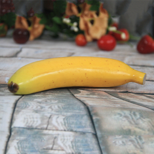 17.2x3.7cm Artificial/Decorative Simulation Fruits Banana with Cutting End