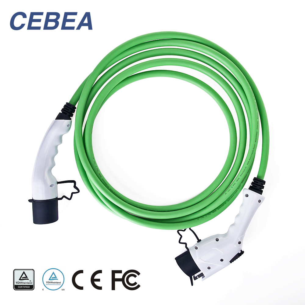 32A SAE J1772 Type1 to Type2 EV Charging Cable for EV
