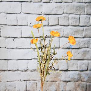 59cm Artificial/Decorative Wild Flower Poppy with Gypsophilay