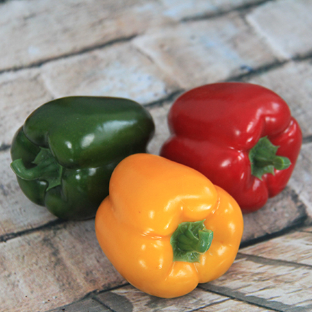 8.3X8+1.3CM Artificial/Decorative Simulation Vegetable Red/Green/Yellow Pepper
