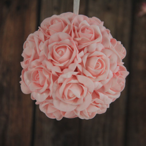 15Cm Artificial Decorative Wedding Ball Pink Rose