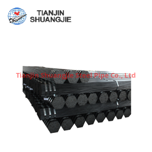 BS1387 ВПВ черная углеродистая стальная труба
