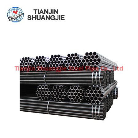 BS EN39 high frequency  welded black carbon steel pipe