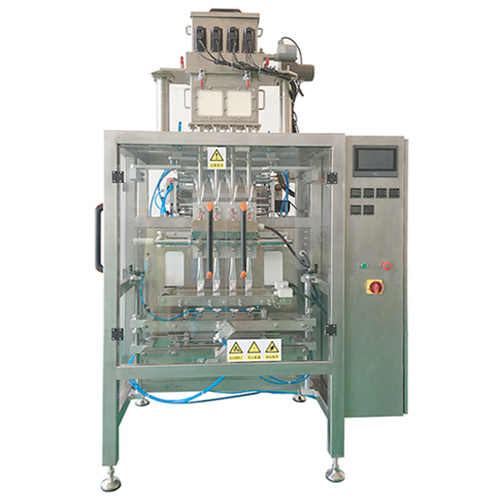 Multi track packaging machine for enzyme powder