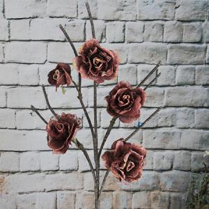 117Cm Artificial/Decorative Organza Flower Rose