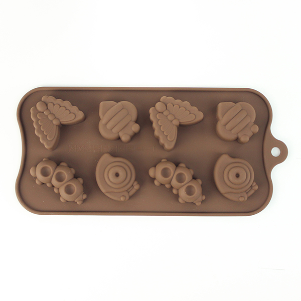 8 cups insect silicone chocolate mold