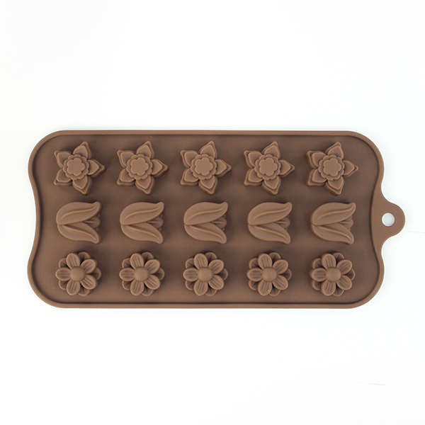 silicone flower chocolate mold