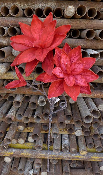 100 Artificial Decorative Printed Foam Flower Magnolia