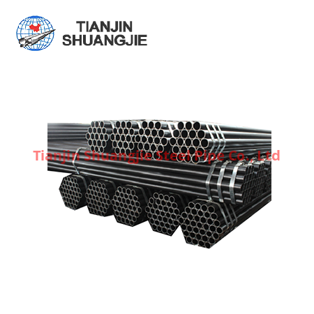 EN10219high frequency  welded black carbon steel pipe