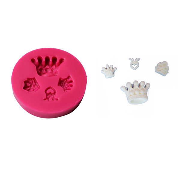 Crown shaped silicone fondant mold