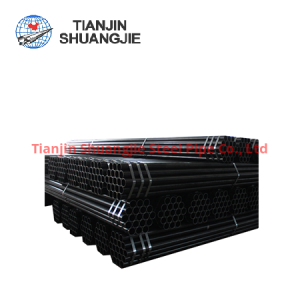 JIS G3444 high frequency  welded black carbon steel pipe
