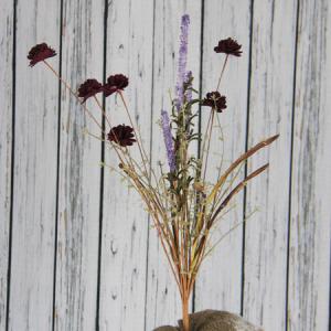 63Cm Artificial Decorative Wild Flower Carnation And Gypsophila And Bristlegrass