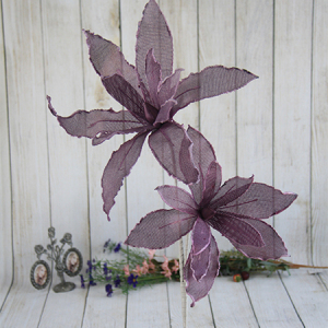 110cm Artificial Decorative Ramie Flower Lily with Foam Edge