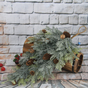 64Cm Artificial Decorative Christmas Swag/Drop With Pine Cone