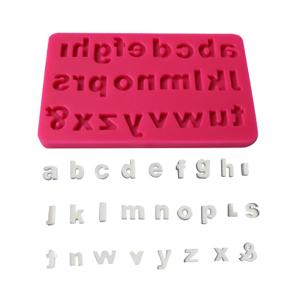 Alphabet silicone fondant mold
