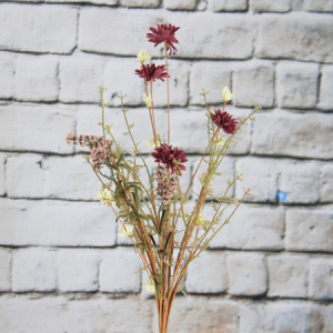 57Cm Artificial Decorative Wild Flower Marguerite And Gypsophila
