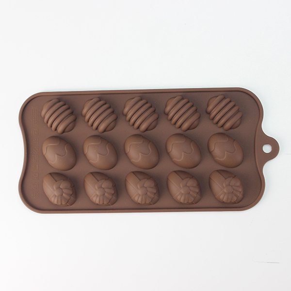15-cups silicone chocolate mold