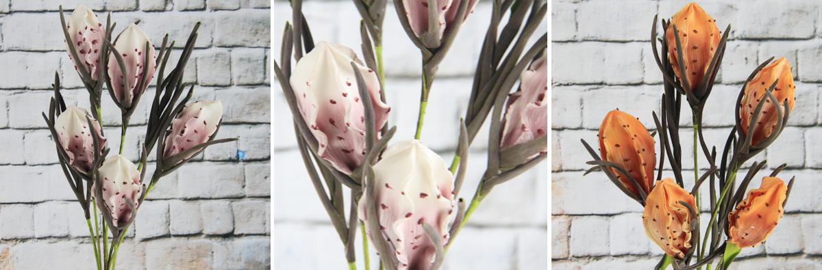 Artificial Decorative Foam Flower Carambola Spray