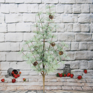 80Cm Artificial Decorative Christmas Spray With Pine Cone/Glitter