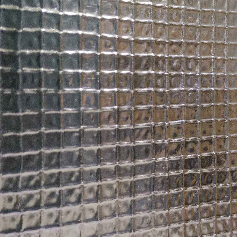 Aluminum foil with 3x3 mesh laminate