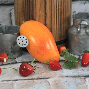 12.2x6.5cm Artificial/Decorative Simulation Fruits Yellow Mango