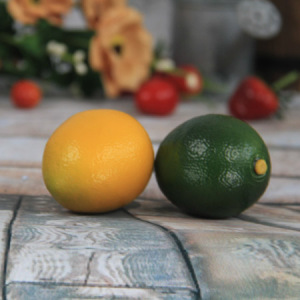 6.7X5.2Cm Artificial/Decorative Simulation  Fruits Yellow And Green Ramie
