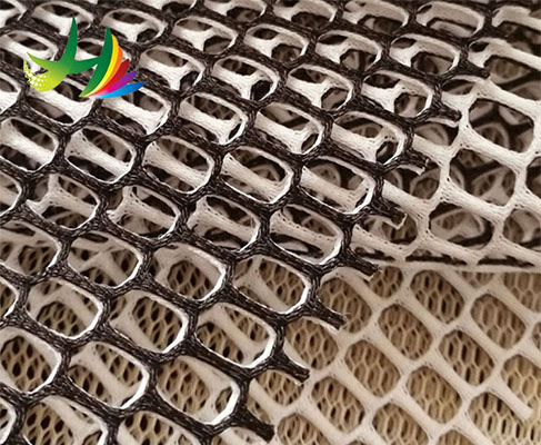 factory direct sales 100% polyester fabric 3d spacer air mesh warp knit